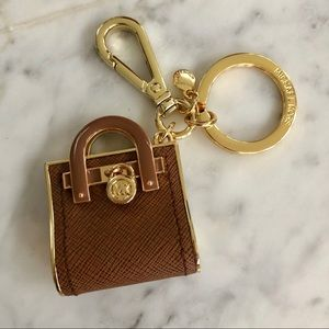 Michael Kors brown/gold key chain